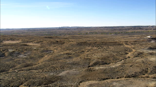 Flight Past Butte And Over Grassland  - Aerial View - Wyoming, Weston County, United States video