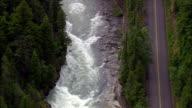 Flight Sliding Down To Lake McDonald  - Aerial View - Montana, Flathead County, United States video