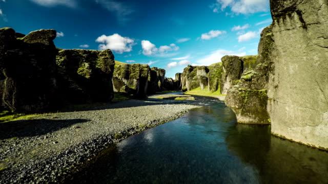 Flight through Fjadrargljufur Canyon - Iceland video