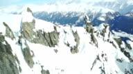 flight through mountains video