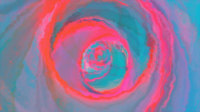 Flight through the abstract futuristic red blue tunnel video