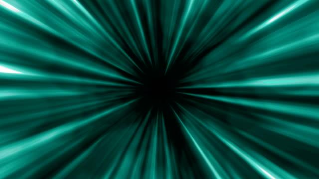 Flight through the futuristic blue green tunnel. Perpetual motion. video