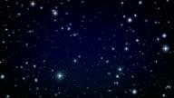 Flight through the stars. Looped animation. video
