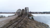 Flight to the railway bridge and road bridge video