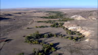 Flight Up La Prele Creek Towards Fort Fetterman  - Aerial View - Wyoming, Converse County, United States video