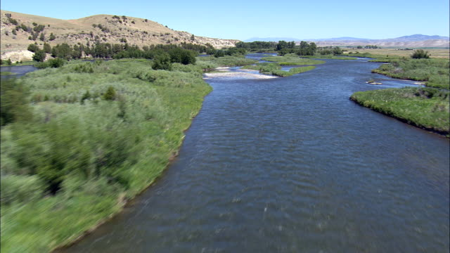 Flight Up the Madison River  - Aerial View - Montana, Gallatin County, United States video