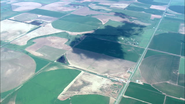 Flight With Pan Round Circular Fields  - Aerial View - Oklahoma, Harmon County, United States video