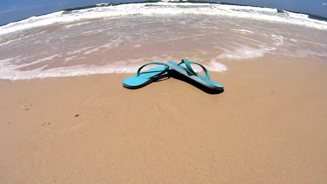Flip Flops On Beach video