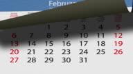 Flip pasteboard calendar video