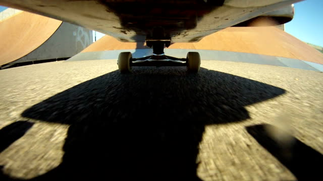 Flip trick with camera under the skateboard video
