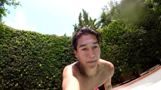 Flipping Into Pool video