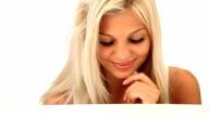 Flirting blond woman video