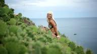 Flirting sexy blonde video