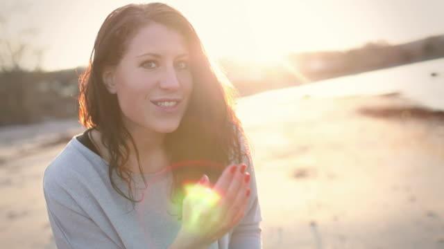 Flirting Woman In Sunset video