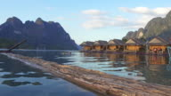 4K : Floating bamboo hut video