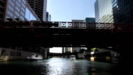 Floating Down Chicago River Time Lapse 2 video