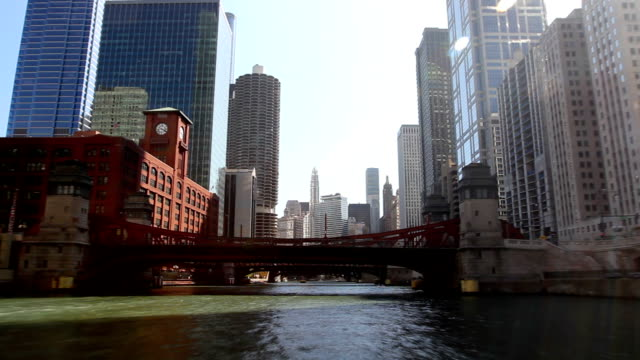 Floating Down Chicago River Time Lapse video