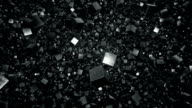 Floating Field of Metallic Debris Cubes video