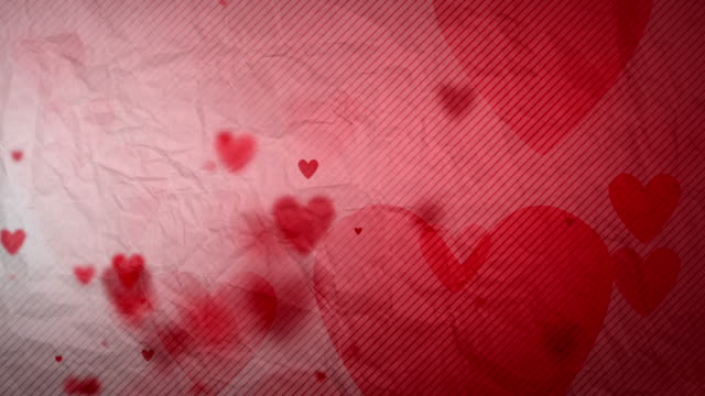 Floating Hearts Background Loop - Side Glow On Paper HD video