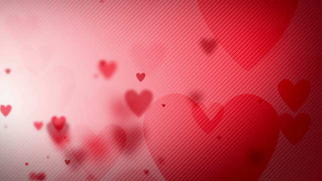 Floating Hearts Background Loop - Side Glow Soft (Full HD) video