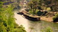 floating house in river Kwai, Kanchanaburi, Thailand. video