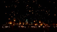Floating lantern at Chiang Mai Province, Asia Thailand video