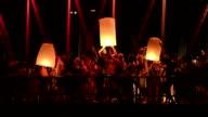 Floating Lantern Loi Krathong festival video