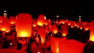 Floating lanterns in Thailand video