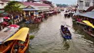 Floating market. Bangkok video