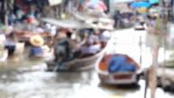 Floating Market, Blurred Shot. video