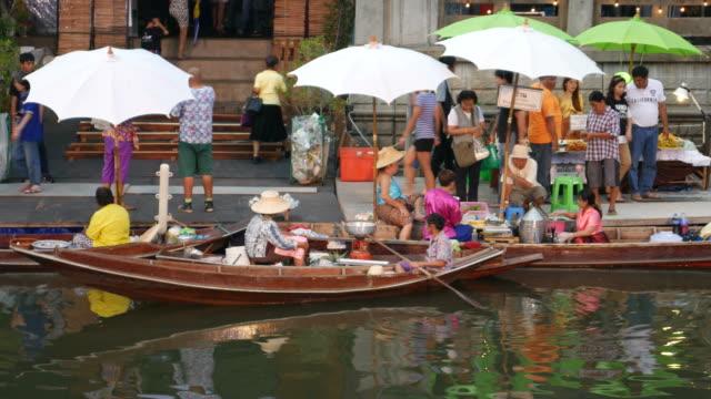 Floating market in Bangkok video