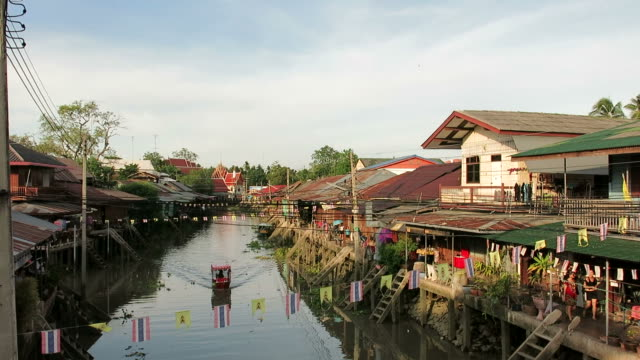 Floating market, Thailand video