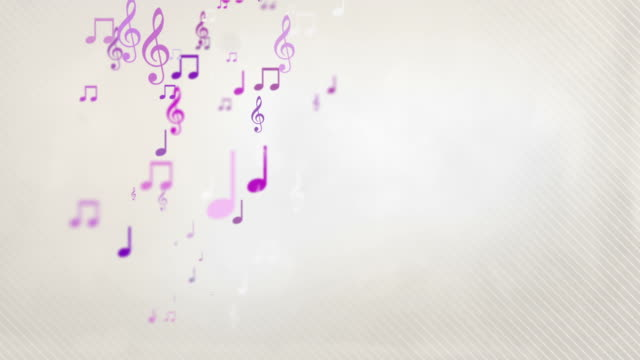 Floating Musical Notes - Pink (Full HD) video
