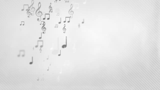 Floating Musical Notes - Simple Grey (Full HD) video