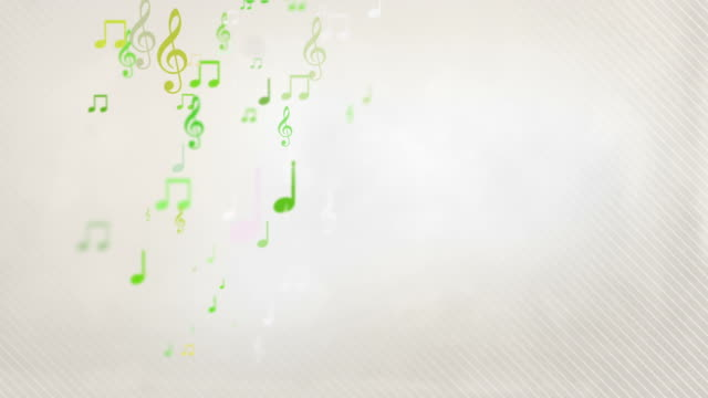 Floating Musical Notes - Yellow Green (Full HD) video
