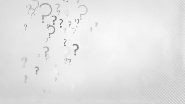 Floating Question Marks Background Loop - Charcoal Grey HD video