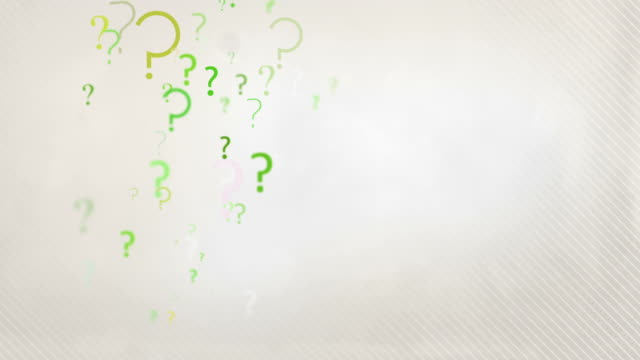 Floating Question Marks Background Loop - Pastel Green HD video