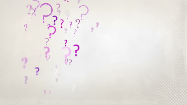 Floating Question Marks Background Loop - Pastel Pink HD video