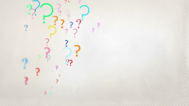 Floating Question Marks Background Loop - Pastel Rainbow HD video