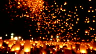 Floating Sky Lantern Traditional Festival video