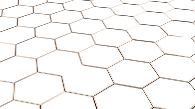 Floating surface made with hexagons. video