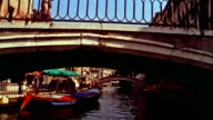 Floating under bridge on a Venice Canal video