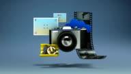 Floating various photo,picture,carema application social contents, Entertainment contents. video