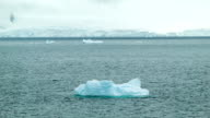 Floating-by Antarctica Icebergs video