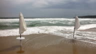 Flooded beach video