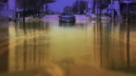 Flooded Car Under Arch - Long Shot Enhanced video
