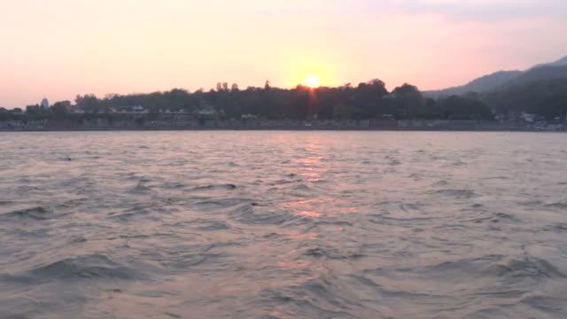 Flooded Ganga River in Rishikesh video