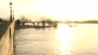 Flooded River Thames at Sunset video
