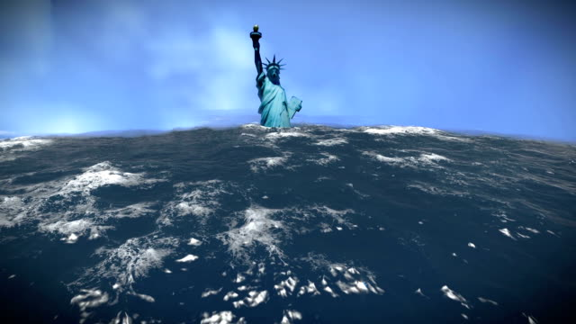 Flooded Statue of Liberty video