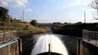 Floodgate for drain stream of water video